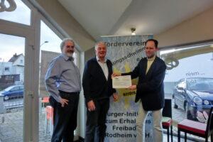 Spendenübergabe (v.l.n.r.: Werner Dittrich, Wolfgang Brück, Christian Lamping)