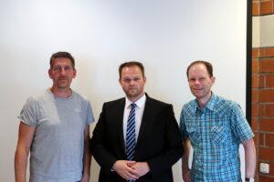 Stefan Kaul (Stadtelternbeirat), Engin Eroglu (FW Hessen), Christian Lamping (FWG Rosbach/Rodheim)